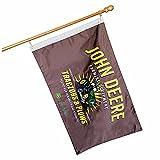 John Deere 28' x 44' Decorative Licensed Brown Plows Flag