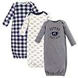 Hudson Baby Baby Cotton Gowns, Football 3 Pack, 0-6 Months ball gown Mar, 2021