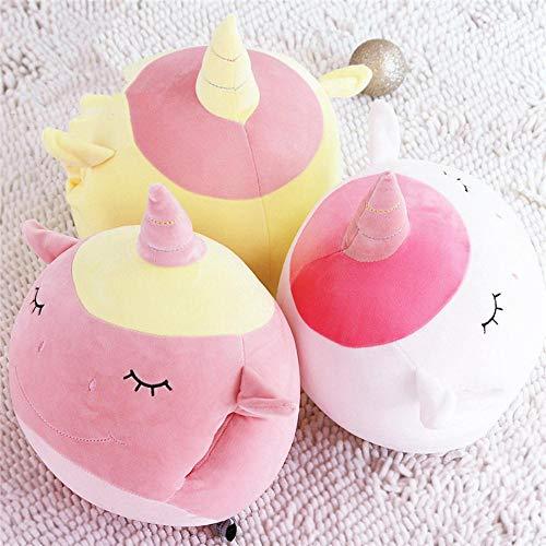 Junsansir Unicorn Pillow Cute Animal Stuffed Plush Toy Soft Feather Cotton Unicorn Hand Warmer para niñas Regalo, Amarillo
