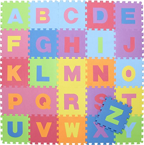 不二貿易フロアマットジョイントマット32cmアルファベット26枚キッズEVA10411