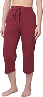 Women's Capri Jersey Knit Pajama Lounge Pant Available in Plus Size