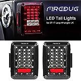 FIREBUG Jeep Wrangler Tail Lights, Jeep Wrangler LED Tail Lights, Jk TailLight,Led Tail Lights for Jeep Wrangler, Jeep Rear Lights, with Brake Light & Reverse Light,JK JKU 2007-2017 Accessories