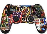 the grafix studio Comic Superhero Playstation 4 (Ps4) Controller Sticker / Skin / Wrap / Ps8