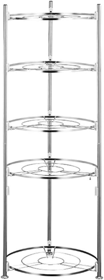 Metall Multi-Layer-Pan-Rack K/üche Speisekammer Kabinett Z/ähler Regal Organizer-Rack K/üchen Unterschrankregal Size : S jinrun K/üchenregal Pan Pot Rack-Kochgeschirr-Halter-Speicher-Rack