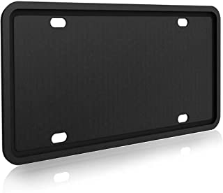 IKADEER License Plate Frame, Silicone License Plate Frames Rust-Proof, Rattle-Proof, Weather-Proof