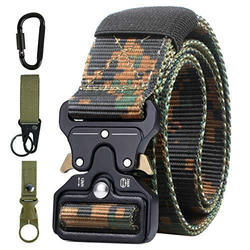 AivaToba Taktischer Gürtel Unisex Nylon Taktik Survival Cobra Gürtel Militär Armee Taillenband mit Schnellspanner Metallschnalle für Outdoor Arbeit Freizeit Jagen