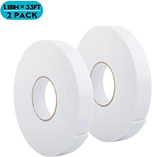 White PE Foam Tape-Outdoor and Indoor Double-Sided Tape Heavy Duty Strong Weatherproof Adhesive Tape for Decorative and Trim,Car & Gap Filling Mountings,Home Decor, Office Decor(66 Ft Long,Wide 1.18)