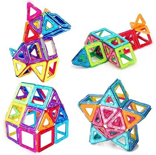 morkka Magnetische Bausteine 46 Teile Magnete Bauklötze Konstruktion Blöcke Pädagogisches Spielzeug Set Kreative Spielzeugauto Tolles (76 pcs)