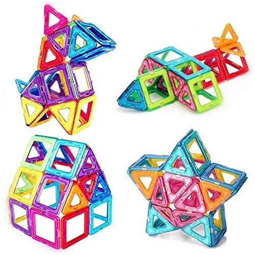 76 Pezzi Piastrelle magnetiche Blocchi di Costruzione Giocattoli educativi impostati per i Bambini, da Set di Costruzione di Costruzione Morcare (76 PCS)