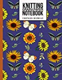 Knitting Graph Paper Notebook: Cute Knitters Journal with Sunflowers and Butterflies (Beautiful Knitting Gifts for Knitters)