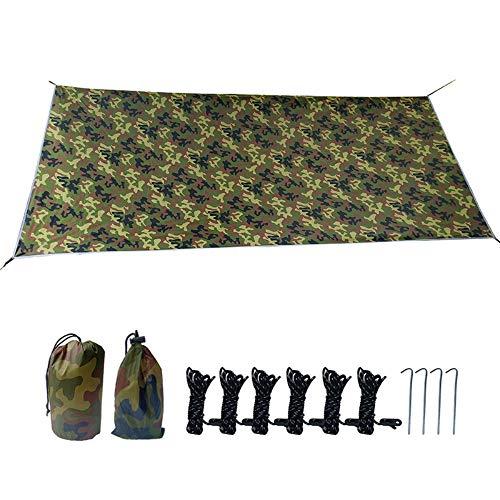 3 x 3 m Hamaca de lluvia tienda de campaña impermeable camping refugio portátil ligero parasol para camping, picnic, viajes al aire libre (3 x 3 cm, verde)