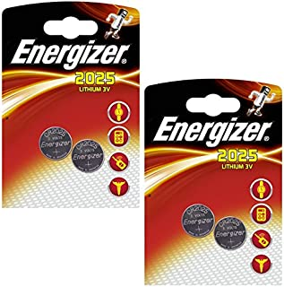 4 x Energizer CR2025 Coin Battery Batteries Lithium 3V for Watches Torches Keys