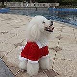 GKKXUE Weihnachten Pet Kleidung, Katzen-Kostüm Netter Adjustable Weihnachtsmann-Kleidung-Haustier-Mantel for Small Medium Large Katzen Hund (rot) (Color : Red, Size : S)