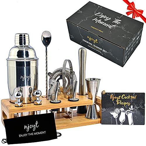 24oz Stainless Steel Cocktail Shaker Set Bartender Kit With Stand 13 Pieces Cocktail Shaker Kit - Cocktail Set Bartender Kit, Bar Shaker Set, Drink Mixer Set, Martini Shaker Set, Bar Mixing Set
