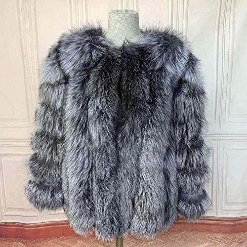 IHCIAIX Damen Daunenjacke,2020 Mantel Weste Mantel Mantel Frauen Wintermantel ausziehen, Silberfuchs, M 92cm