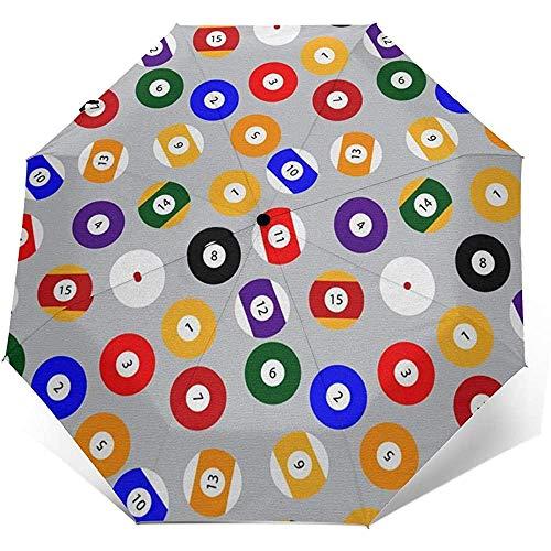 Umbrella Billiard BallTravel Umbrella Compact Automatisches FaltenAnti UV Sonnenschutz