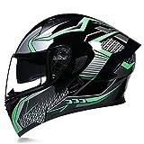 Modular Casco Moto Integral Modulares Casco Moto con Doble Visera Casco de Motocicleta ECE Homologado Cascos de motocross para Adultos Hombres Mujeres...