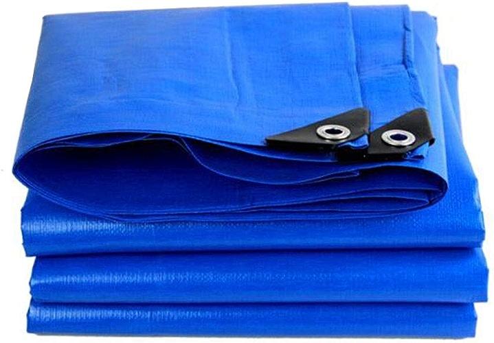 CJC Voiles d'ombrage Prougeection Solaire Feuille De Bache Imperméable, Couverture pour Tente Camping, Hamac, Bassin Polyvalent (Couleur   bleu, Taille   10x6m)