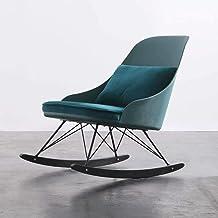 Lazy Getaway Rocking Chair Rocking Chair - Home Living Room Balcony Leisure Single Sofa Recliner Nap Chair,59x79.5x84cm (C...