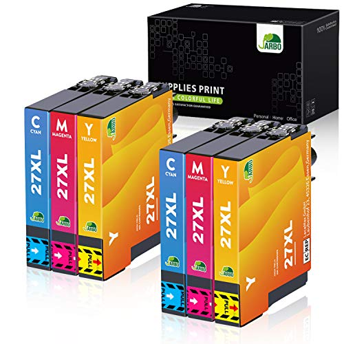 JARBO 27XL Cartucce d'inchiostro Sostituzione per Epson 27 XL Colore per Epson WorkForce WF-3620 WF-3640 WF-7110 WF-7210 WF-7610 WF-7620 WF-7710 WF-7715 WF-7720 WF-3620DWF WF-7610DWF WF-7620DTWF