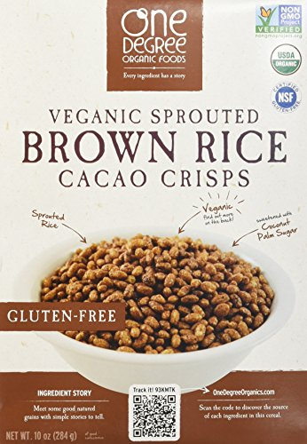 One Degree Organic Foods Sprouted Brown Rice Cacao Crisp, 10 Ounce -- 6 per case.