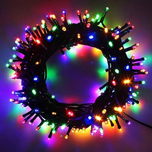 Cavo Verde Scuro Catena Luci A Led Luminoso Natalizia 300 Leds 32.8m Luce Lucciole Con Controller 8 Funzioni Ideale Per Natale Compleanni Feste (Multicolor Colori)