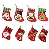 Amasawa 8 Piezas Calcetines Navidad Decoración Regalo Bolsa