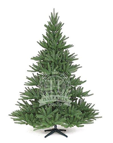 Original Hallerts® Spritzguss Weihnachtsbaum Bolton 210 cm Edel Nordmanntanne - zu 100% in Spritzguss PlasTip® Qualität - schwer entflammbar nach B1 Norm, Material TÜV und SGS geprüft