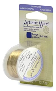Artistic Wire Beadalon, 24 Gauge, Silver Plated Gold Color, 10 yd (9.1 m) Craft Wire