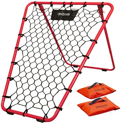 GoSports Basketball Rebounder with Adjustable Frame Rubber Grip Feet and Sandbags Portable Pass product image