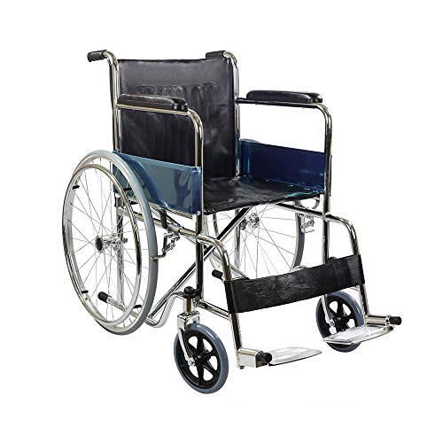 KosmoCare Rexine Spoke wheel Regular Foldable Economy Wheelchair
