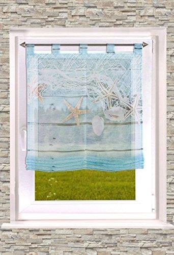 Raffrollos von ars_vivendi Schlaufenraffrollo/Badgardine Seastar 60/80 /100/120 x 140 cm