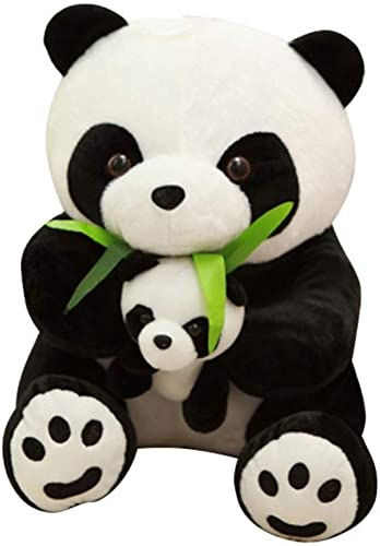 ordenar ahora LAIBAERDAN Madre E Hijo Panda Panda Panda muñeca Padre-Hijo Panda Peluche Hojas De Bambú Panda Almohada muñecas Envían Regaños para Niños Y niñas  venta caliente