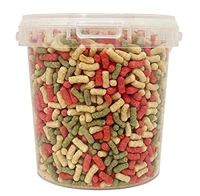 Heritage 5L and 10L Buckets of Floating Pond Variety Sticks Mix Koi & Goldfish Complete All Year Round Fish Food Feed Ponds (5L Bucket Sticks Mix)