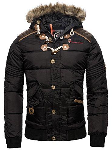 Geographical Norway Chaqueta de invierno para hombre, acolchada negro L