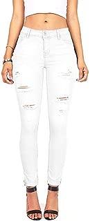 FEESON Men's Straight Leg Slimming Fit Distressed Loose Denim Jeans