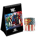 Dc Comics Designed Desk/Table Calendar- Officially Licensed product by Warner Bros, USA. Time span: 14 months ( November 2020 - December -2021, featuring 14 months of easy Year round planning-Free sticker with calendar Made of durable white ceramic w...