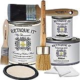 Retique It Chalk Furniture Paint by Renaissance DIY, Wax Kit, 02 Ivory Tower-Antique White, 32 Ounces,7