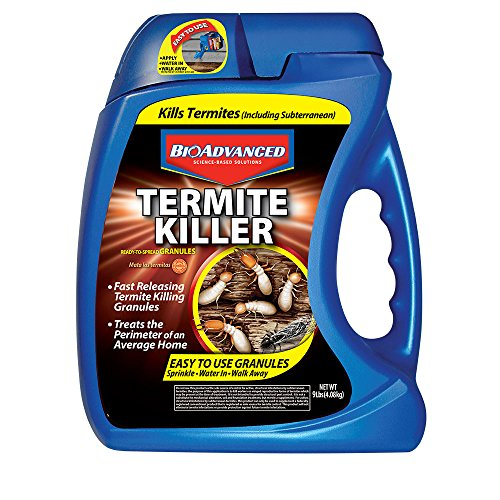 BioAdvanced 700350A Termite Killer Home Perimeter Treatment Ready-to-Spread Granules, 9-Pounds