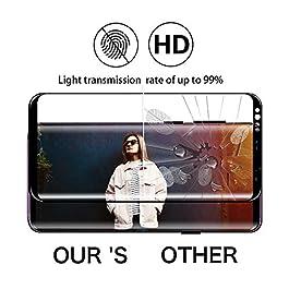 Galaxy S9 Plus Film Verre Trempé, [2 Pièces] [Full Coverage] [Ultra Claire] [Dureté 9H] [sans Bulles] Film Protecteur en Verre trempé de Haute qualité pour Samsung Galaxy S9 Plus
