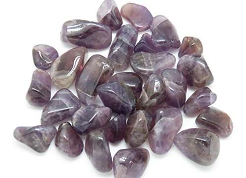 Fundamental Rockhound Products: Auralite 23 Tumbled Stone Gemstone Crystal with Carrying Pouch, info Card, Stone Certification (Small)