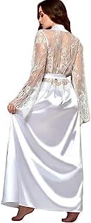 Intimates Clothing Accessories,Women Nightdress Silk Satin Lace Lingerie Pajama Kimono Sleepwear Long Robe Gow