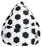Sitting Point Bean Bag Fussball XL, Black/White