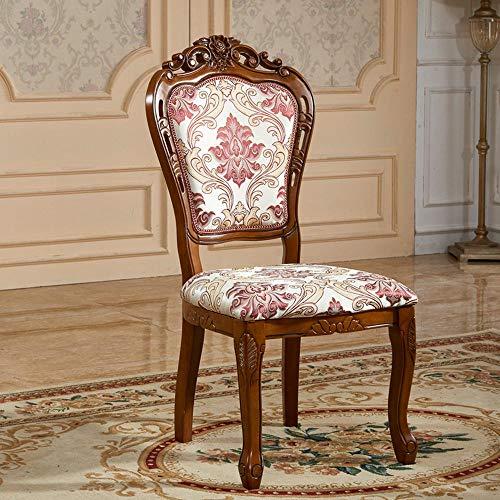 Europese ronde tafel massief hout eettafel en stoel combinatie Amerikaanse antieke ronde eettafel en stoel