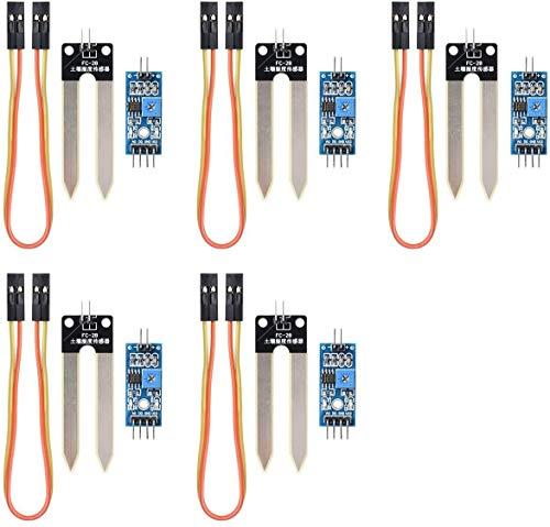 DollaTek 5pcs del Suelo Humedad del higrómetro del módulo del Sensor de detección de YL-69 Sensor de Agua y HC-38 Módulo para Arduino
