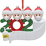 ZL 2020 Personalized Quarantine Survivor 2-6 People Family Members Family Christmas Decorating Kit Creative Gift for Family (Four Person)