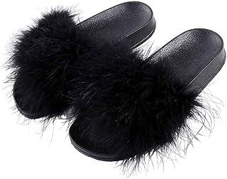 NOSSON Slippers Mujer Shoes, Zapatillas De Piel Comodo Suave para Mujer Zapatillas De Invierno para El Hogar Zapatillas De...