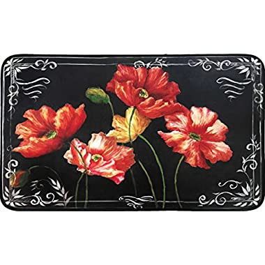 Chef Series 18 x30  Antifatigue Kitchen Mats (Chalkboard Flower Shop)