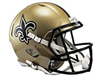Riddell NFL New Orleans Saints Full Size Speed Replica Football Helmet