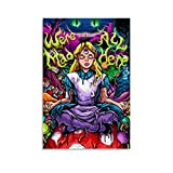 SIELT Trippy Alice in Wonderland Tapestry Canvas Art Poster and Wall Art Picture Print Modern Family Bedroom Decor Posters 12x18inch(30x45cm)